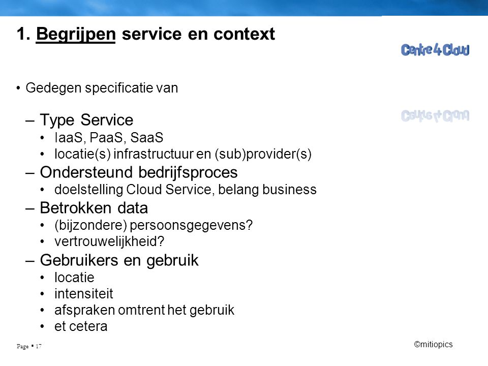 1. Begrijpen service en context