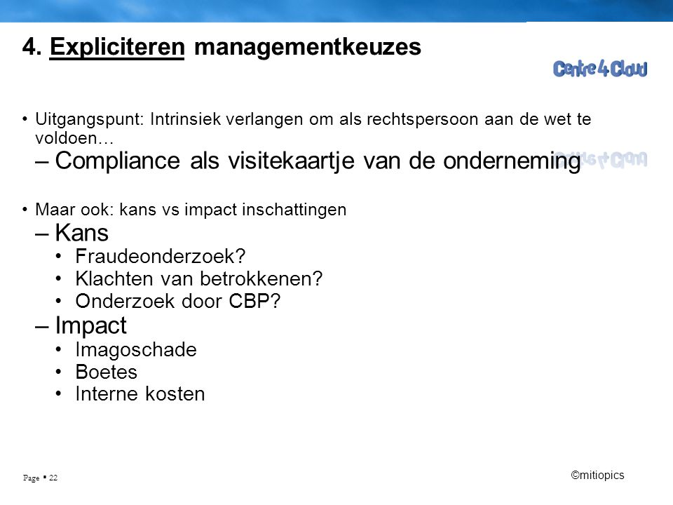 4. Expliciteren managementkeuzes