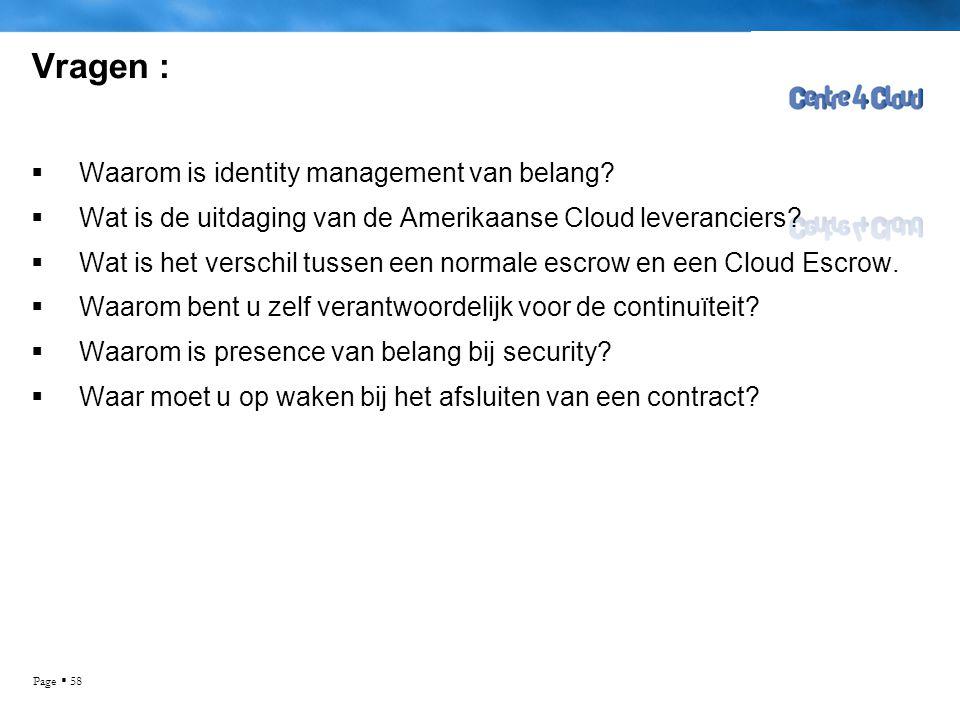 Vragen : Waarom is identity management van belang
