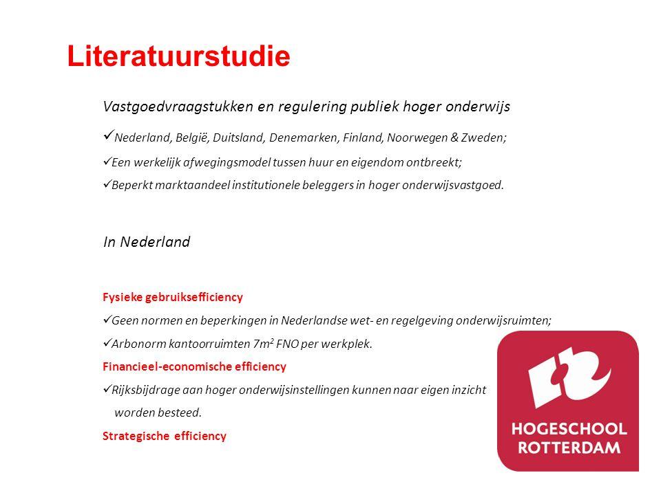 Literatuurstudie Vastgoedvraagstukken en regulering publiek hoger onderwijs. Nederland, België, Duitsland, Denemarken, Finland, Noorwegen & Zweden;
