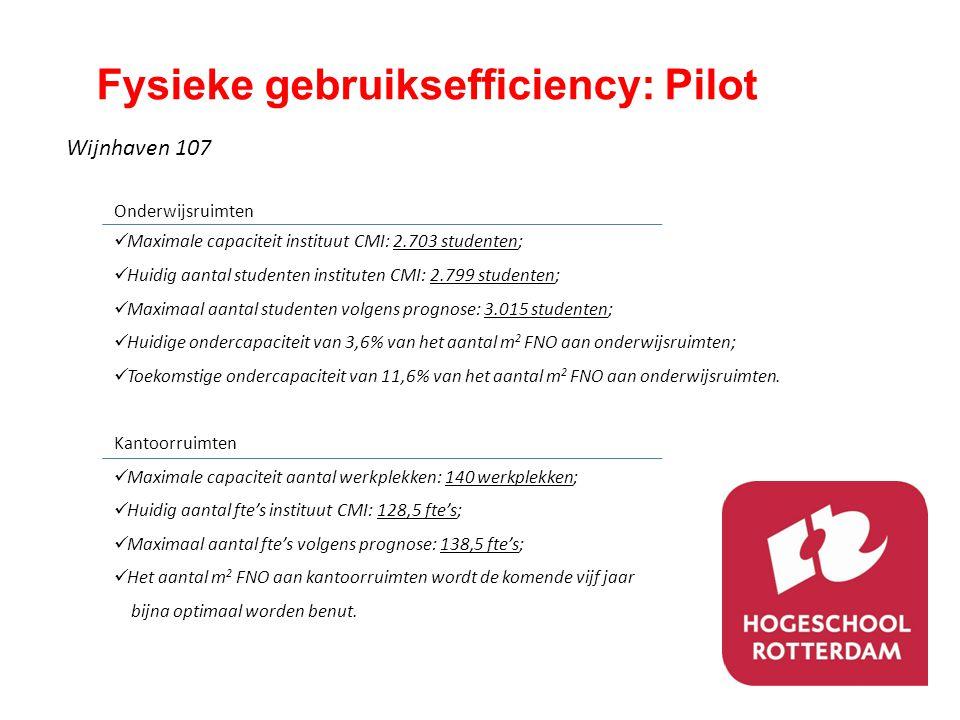 Fysieke gebruiksefficiency: Pilot
