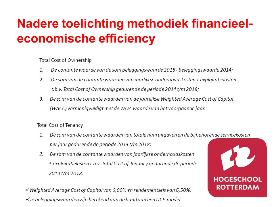 Nadere toelichting methodiek financieel-economische efficiency
