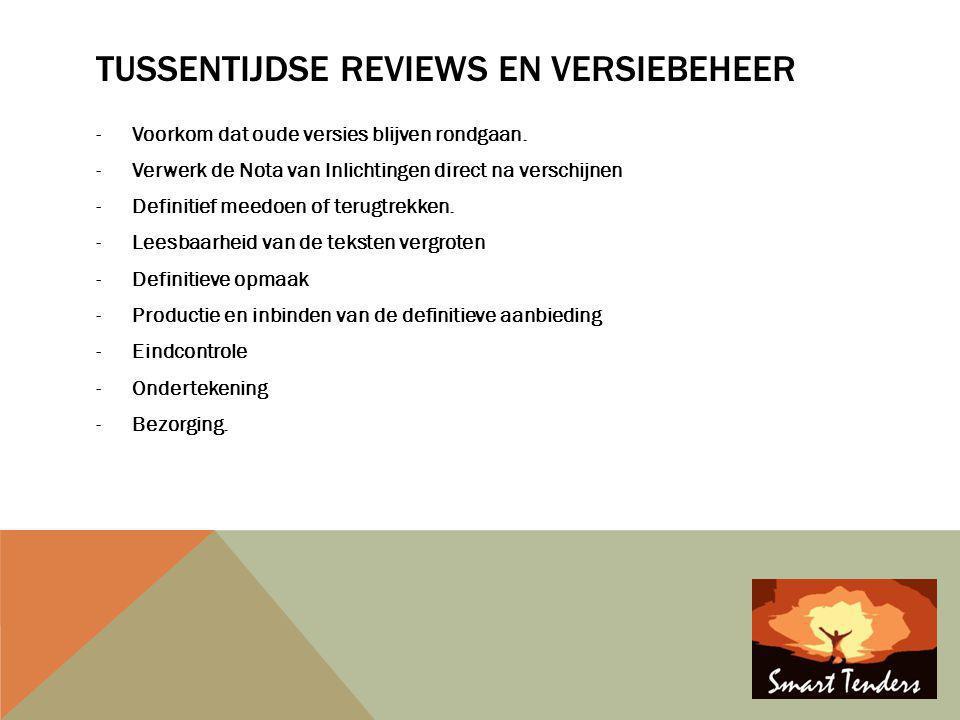 Tussentijdse reviews en versiebeheer