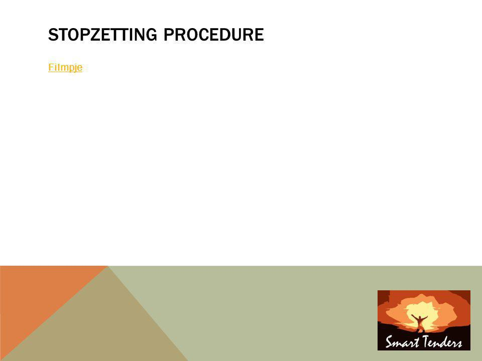Stopzetting procedure