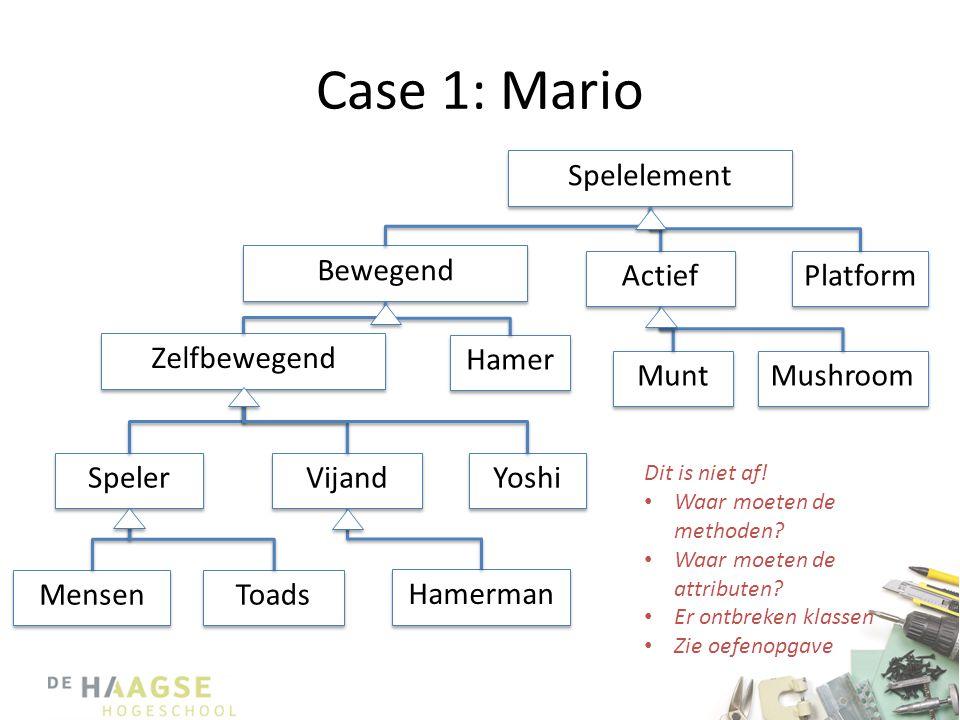 Case 1: Mario Spelelement Bewegend Actief Platform Zelfbewegend Hamer