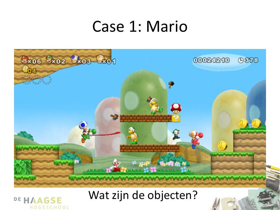 Case 1: Mario Wat zijn de objecten