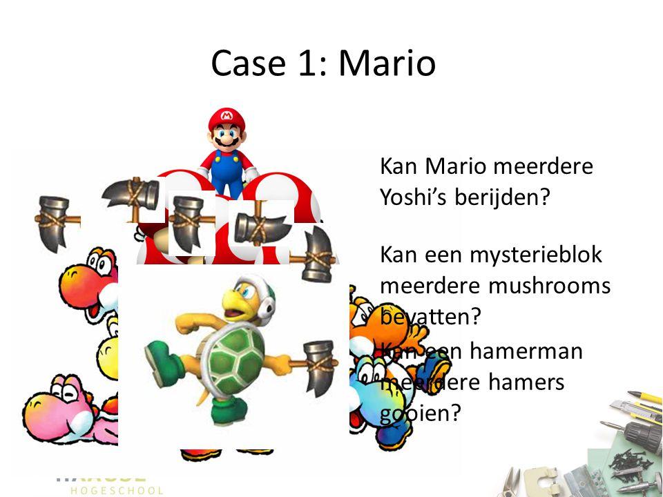 Case 1: Mario Kan Mario meerdere Yoshi's berijden