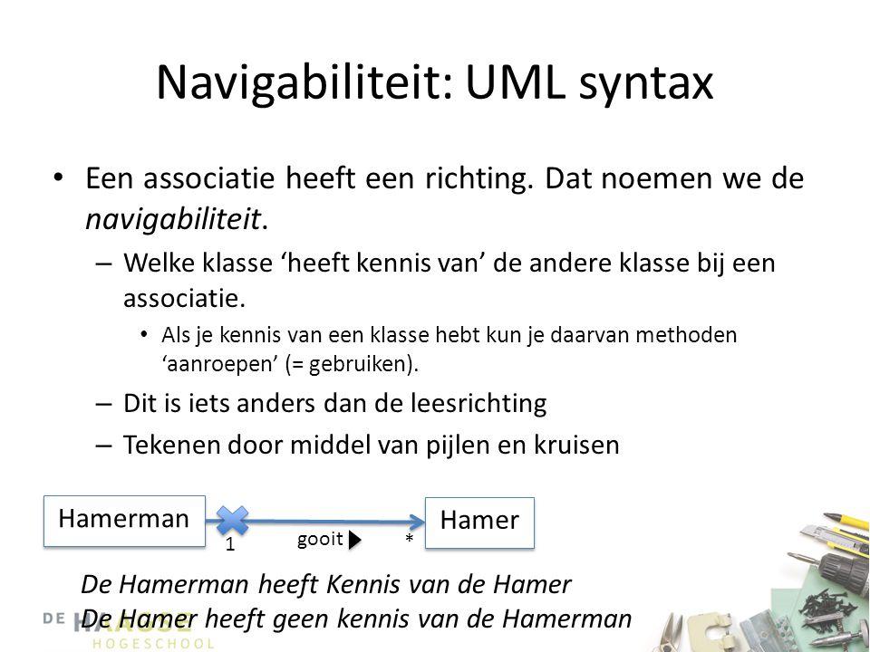 Navigabiliteit: UML syntax