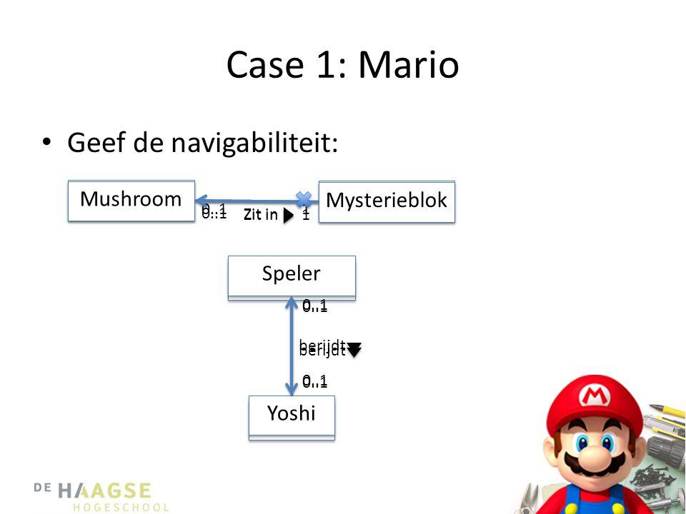 Case 1: Mario Geef de navigabiliteit: Mysterieblok Mushroom