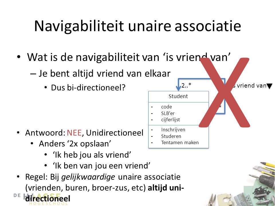 Navigabiliteit unaire associatie