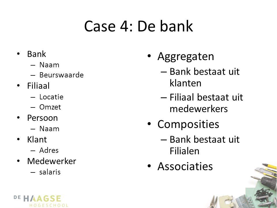 Case 4: De bank Aggregaten Composities Associaties