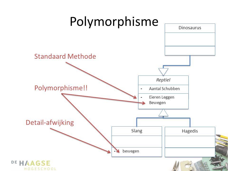 Polymorphisme Standaard Methode Polymorphisme!! Detail-afwijking