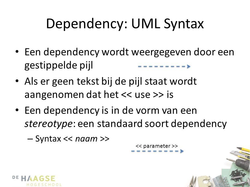 Dependency: UML Syntax