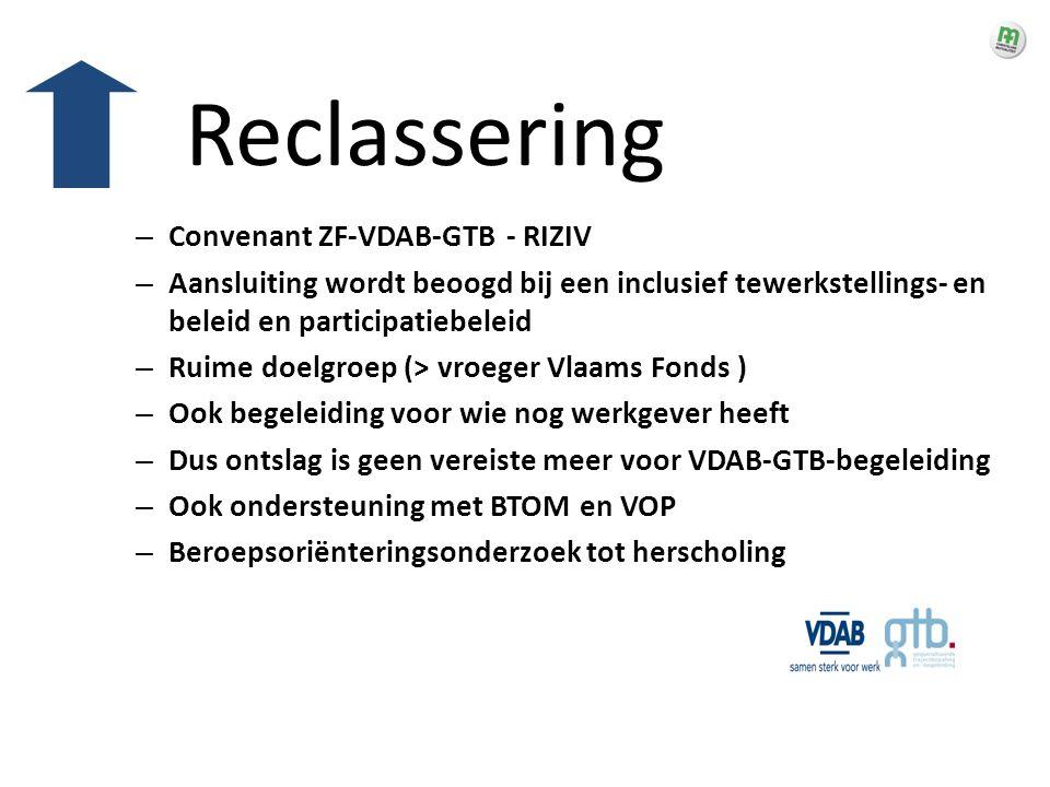 Reclassering Convenant ZF-VDAB-GTB - RIZIV