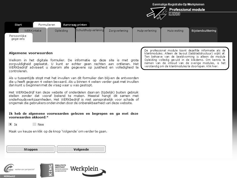 Eenmalige Registratie Op Werkpleinen