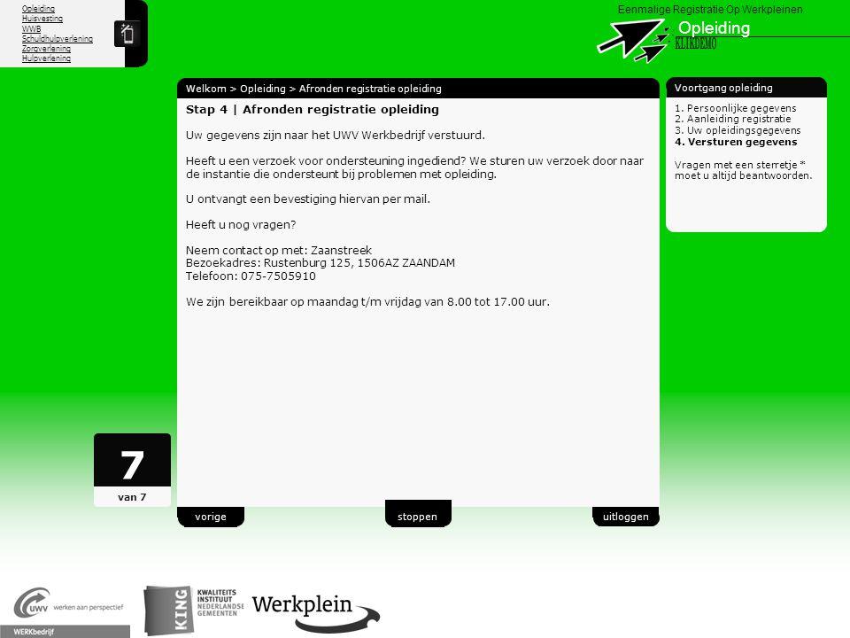 7 Opleiding X KLIKDEMO 26 Stap 4 | Afronden registratie opleiding
