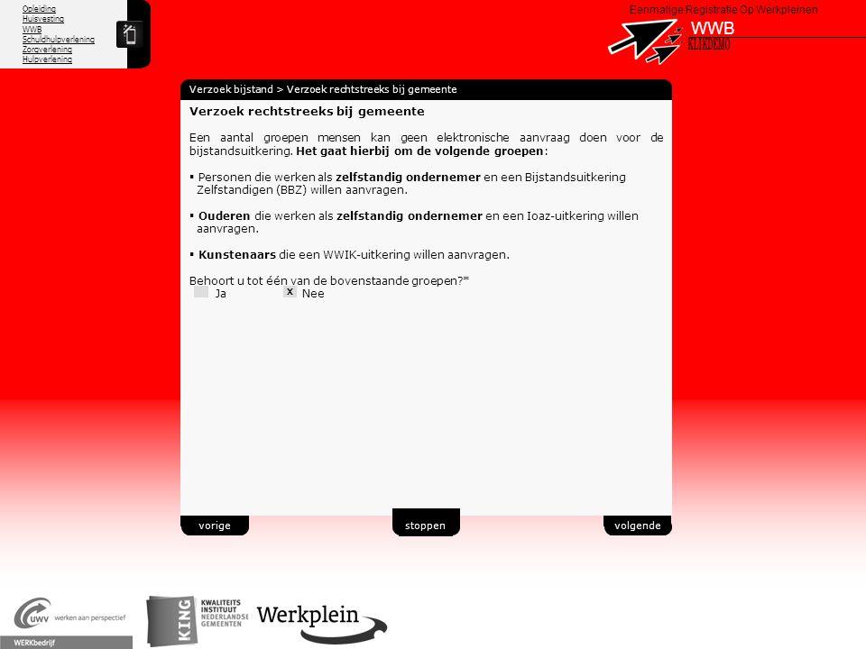 WWB X KLIKDEMO 40 Verzoek rechtstreeks bij gemeente