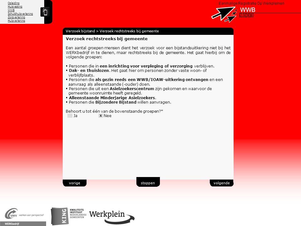 WWB X KLIKDEMO 41 Verzoek rechtstreeks bij gemeente