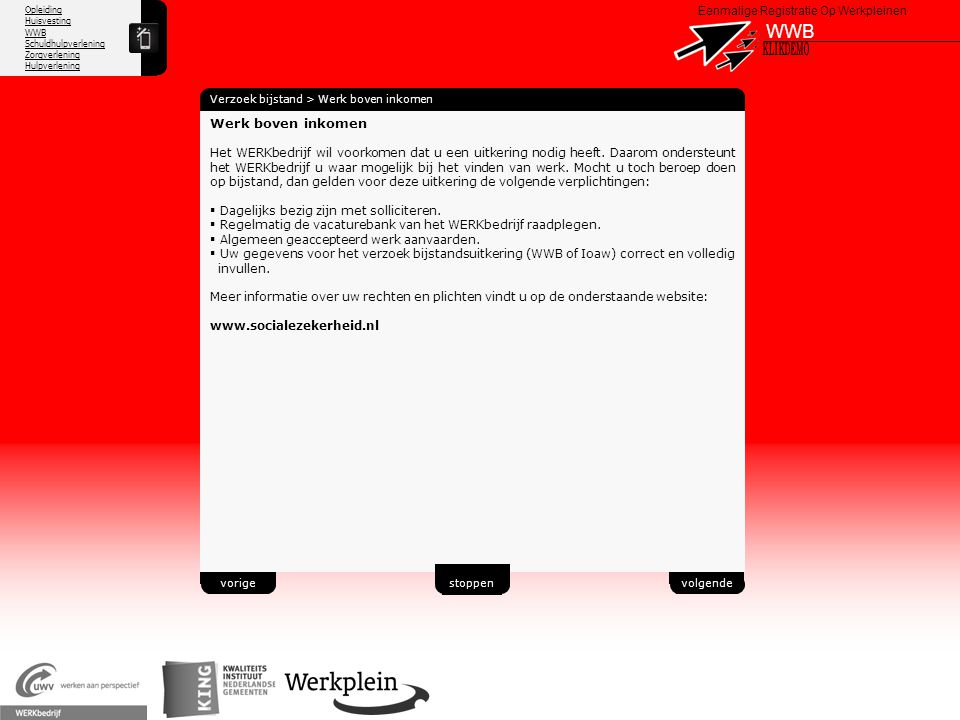 WWB X KLIKDEMO 42 Werk boven inkomen