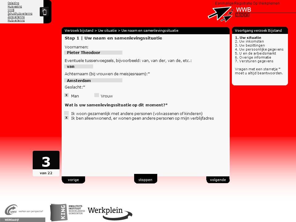 3 WWB X KLIKDEMO 47 Stap 1 | Uw naam en samenlevingssituatie