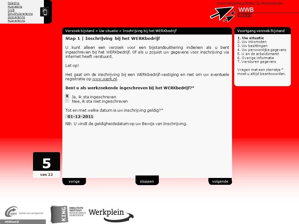 5 WWB X KLIKDEMO 49 Stap 1 | Inschrijving bij het WERKbedrijf
