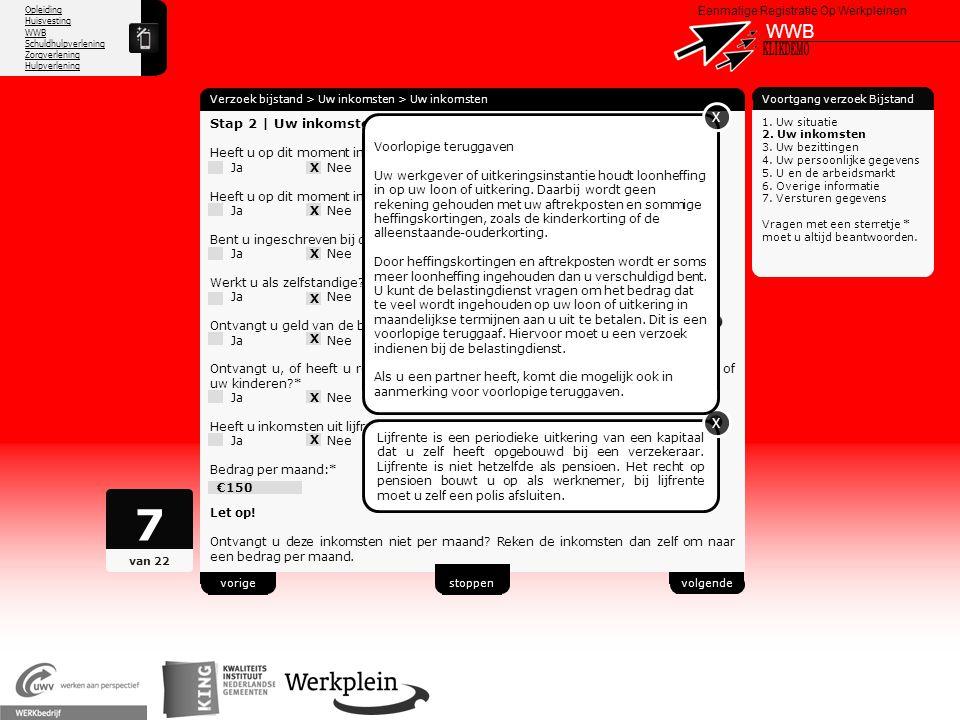 7 WWB X KLIKDEMO X X 51 Stap 2 | Uw inkomsten