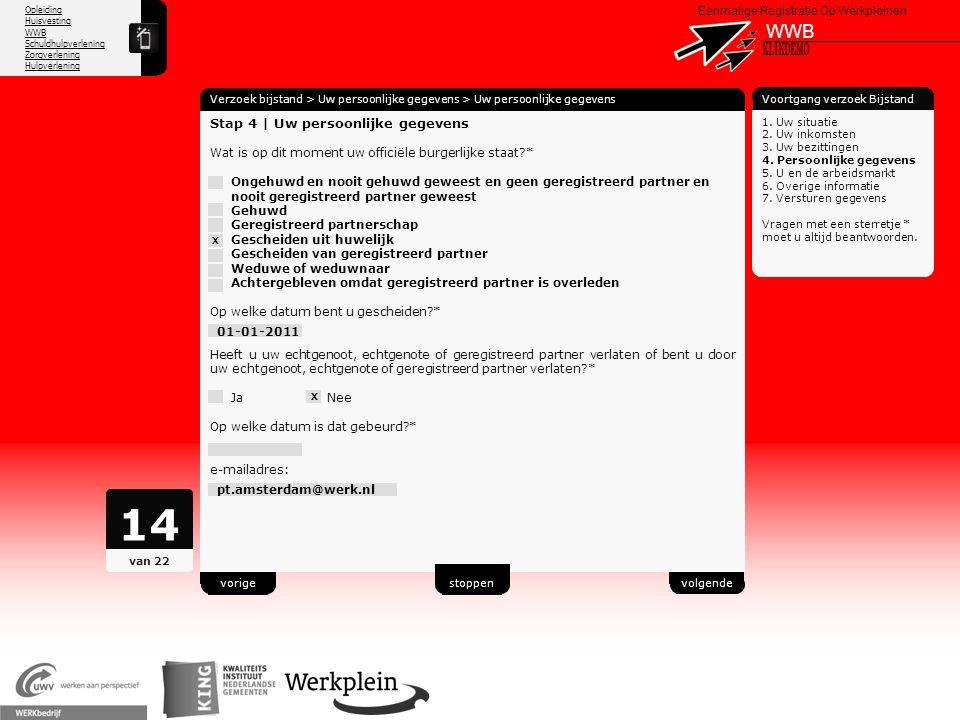 14 WWB X KLIKDEMO 58 Stap 4 | Uw persoonlijke gegevens