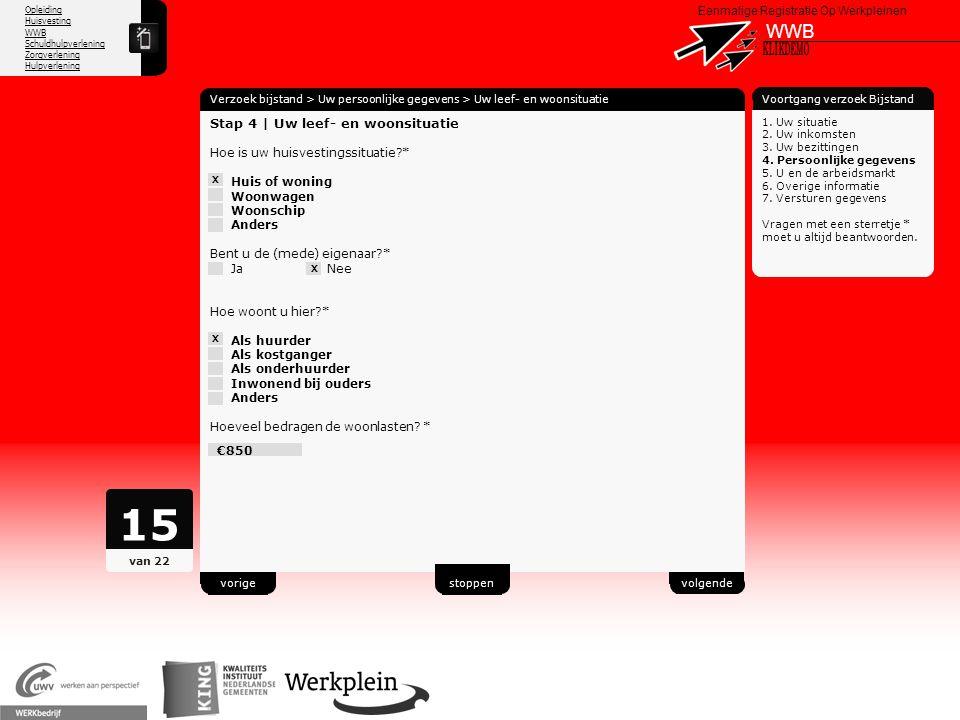15 WWB X KLIKDEMO 59 Stap 4 | Uw leef- en woonsituatie