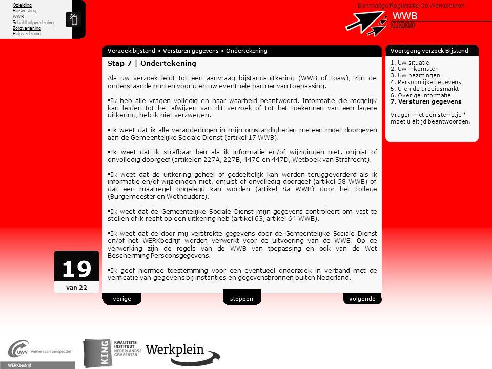 19 WWB X KLIKDEMO 63 Stap 7 | Ondertekening