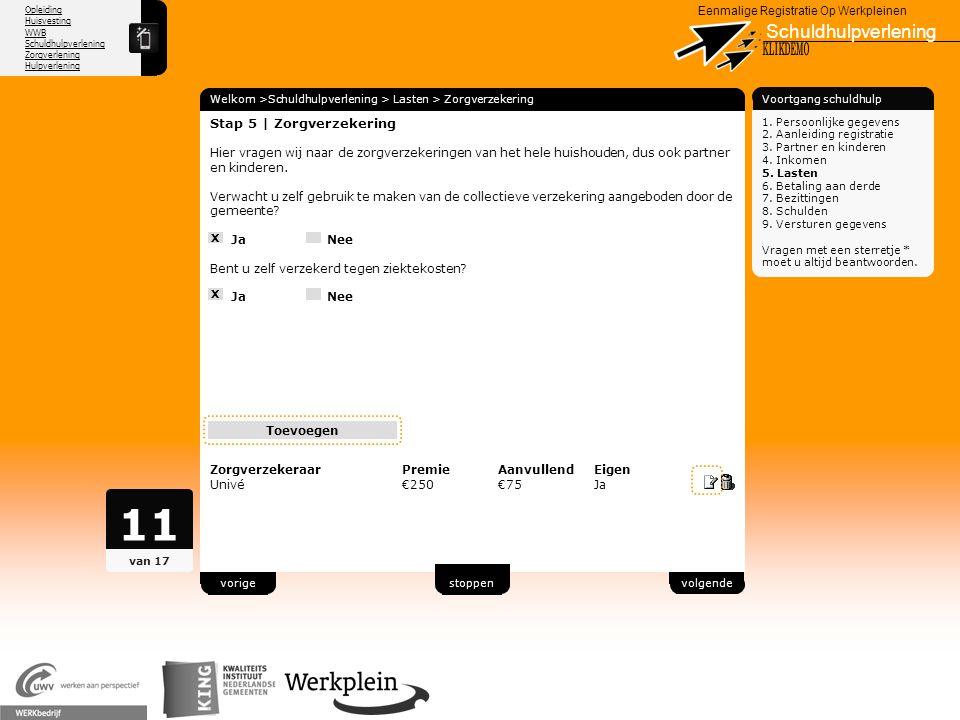 11 Schuldhulpverlening X KLIKDEMO 79 Stap 5 | Zorgverzekering