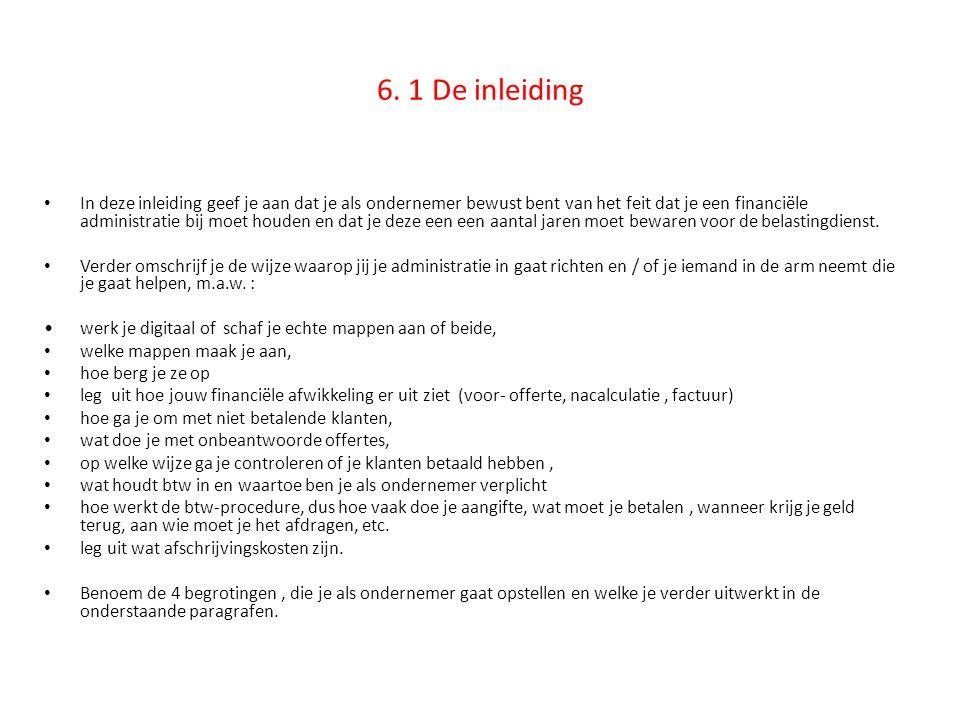 6. 1 De inleiding