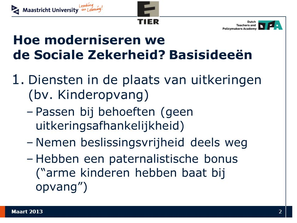 … modernisering (vervolg)