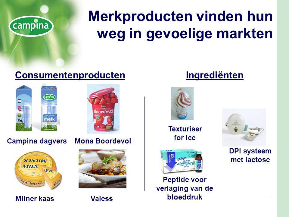 Merkproducten vinden hun weg in gevoelige markten