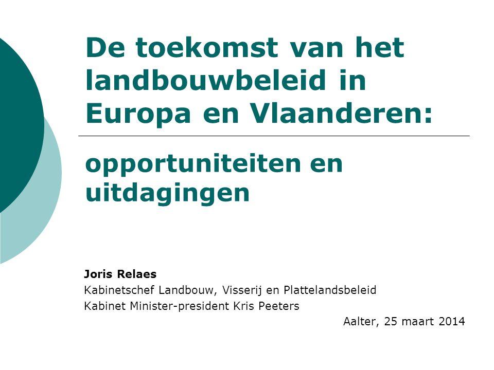 De toekomst van het landbouwbeleid in Europa en Vlaanderen: