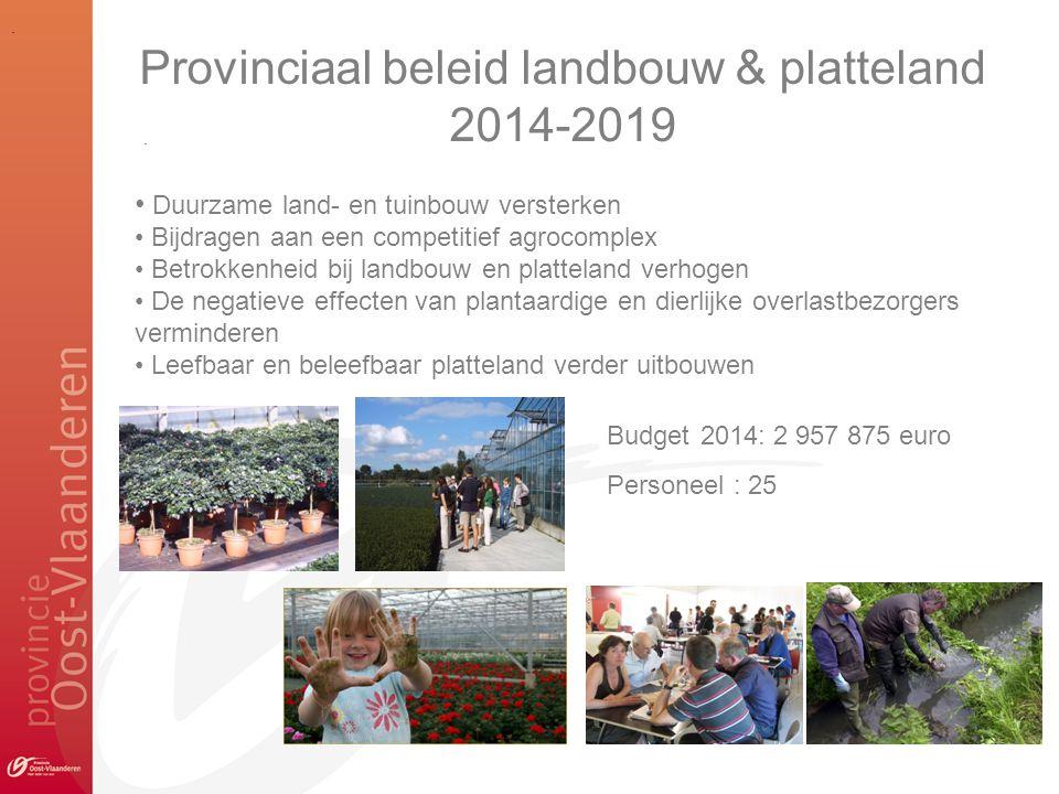 Provinciaal beleid landbouw & platteland