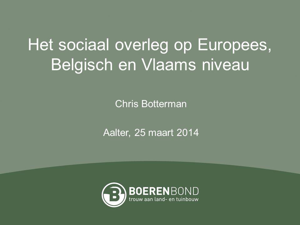 Het sociaal overleg op Europees, Belgisch en Vlaams niveau