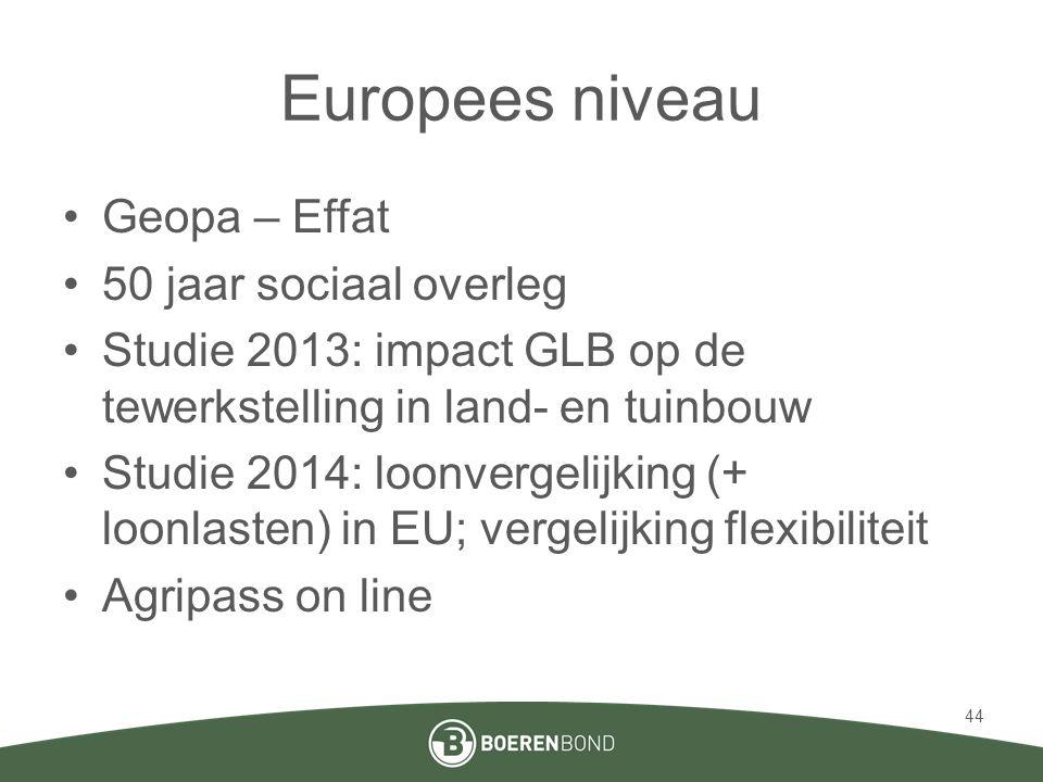 Europees niveau Geopa – Effat 50 jaar sociaal overleg