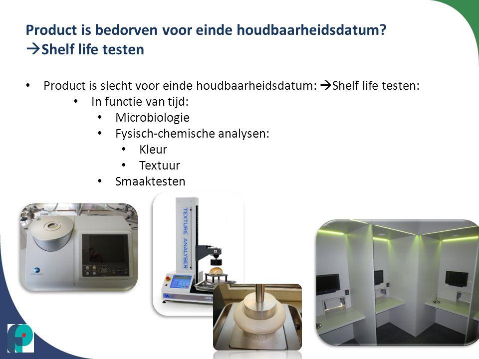 Product is bedorven voor einde houdbaarheidsdatum Shelf life testen