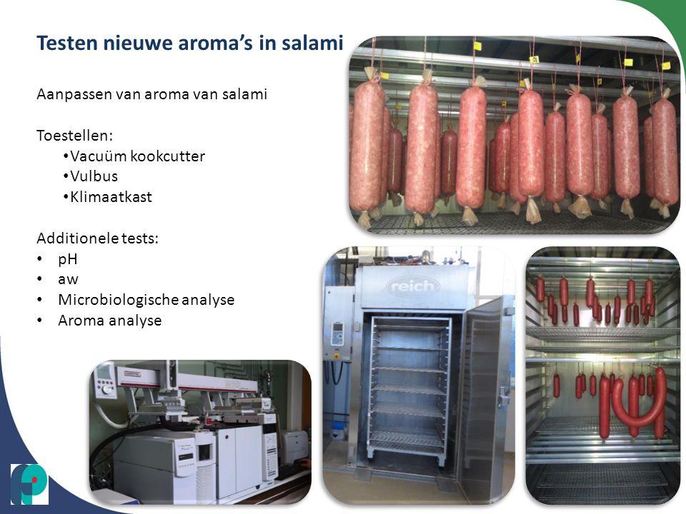 Testen nieuwe aroma's in salami