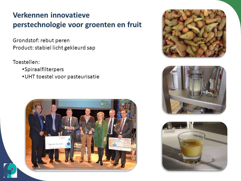 Verkennen innovatieve perstechnologie voor groenten en fruit