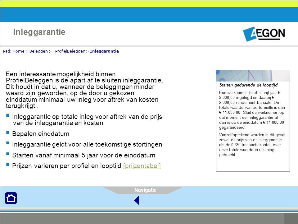 Inleggarantie Pad: Home > Beleggen > ProfielBeleggen > Inleggarantie.