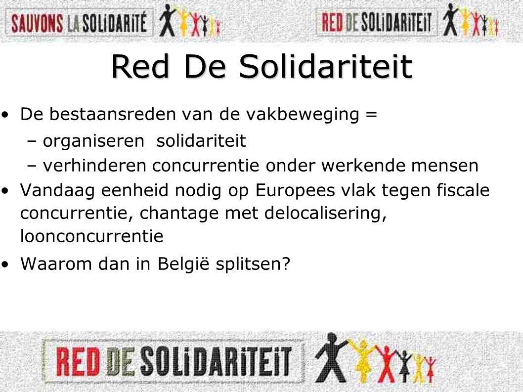 Red De Solidariteit De bestaansreden van de vakbeweging =