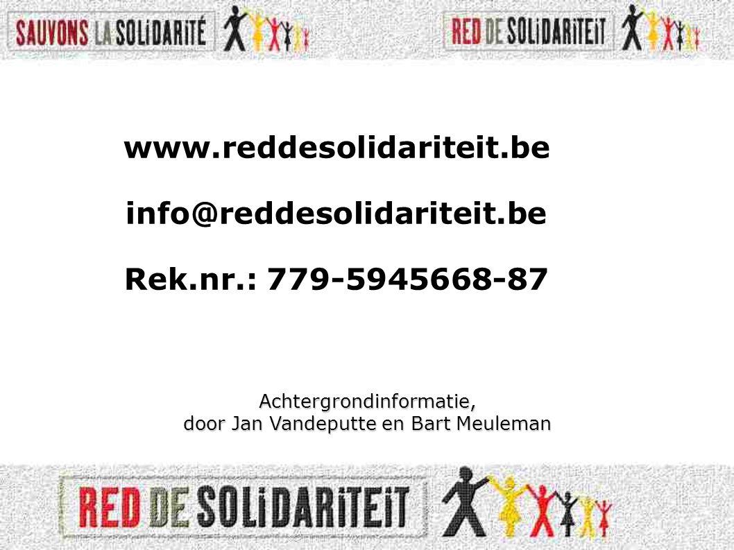 Achtergrondinformatie, door Jan Vandeputte en Bart Meuleman