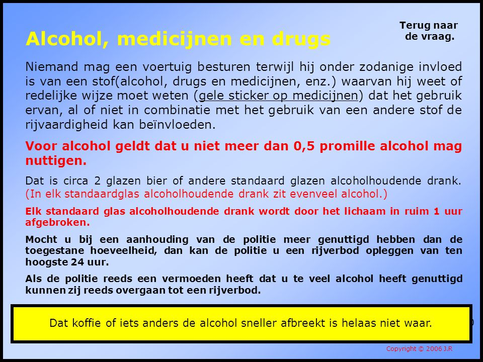 Alcohol, medicijnen en drugs