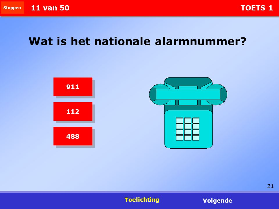 Wat is het nationale alarmnummer