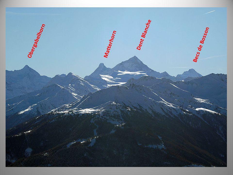 Dent Blanche Obergabelhorn Becs de Bosson Matterhorn