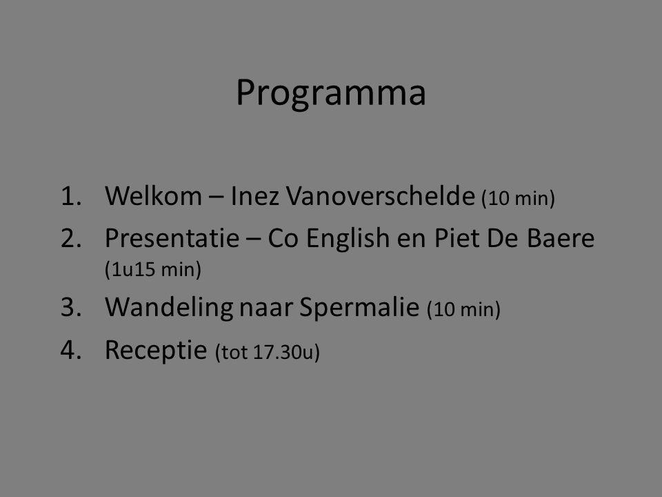 Programma Welkom – Inez Vanoverschelde (10 min)