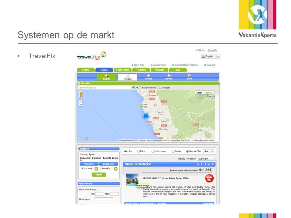 Systemen op de markt TravelFlx