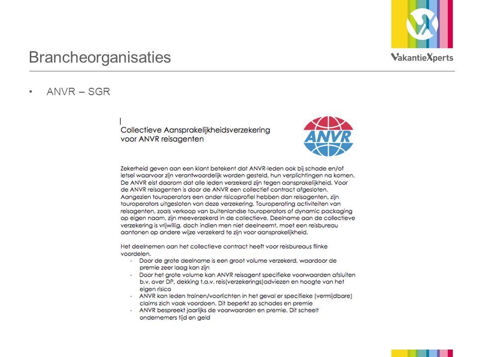 Brancheorganisaties ANVR – SGR