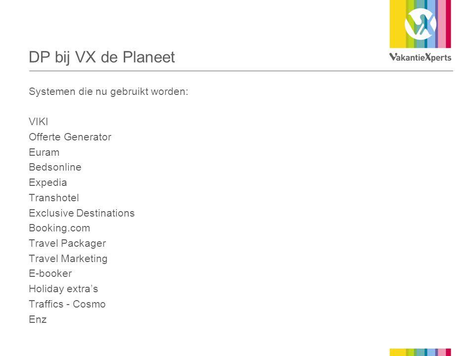 DP bij VX de Planeet Systemen die nu gebruikt worden: VIKI